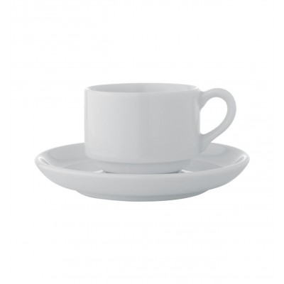Estoril White - Coffee Cup & Saucer 10cl