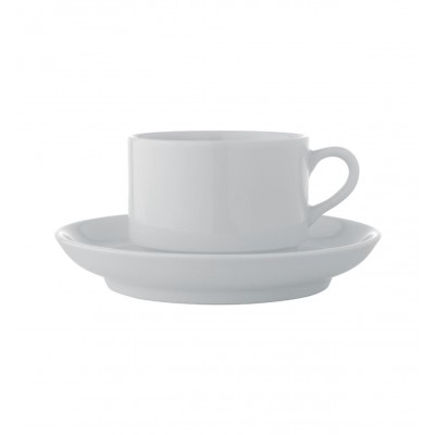 Estoril White - Breakfast Cup & Saucer 27cl