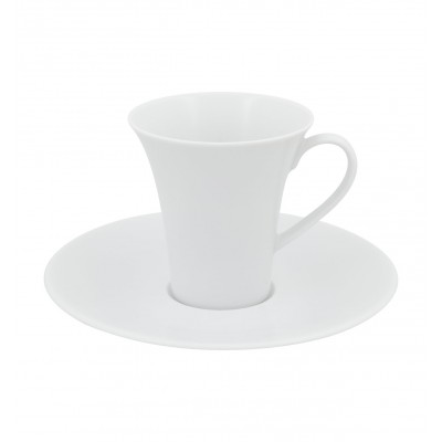 Modo White - Coffee Cup & Saucer