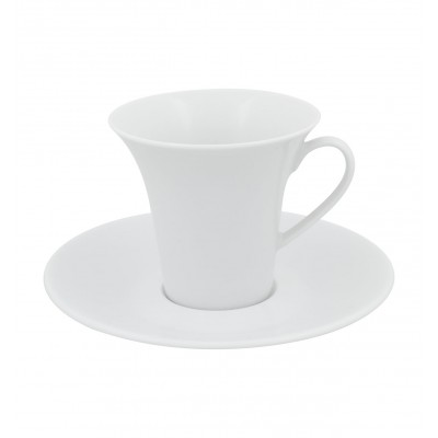 Modo White - Large Coffee Cup & Saucer