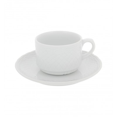Escorial White - Breakfast Cup & Saucer 27cl