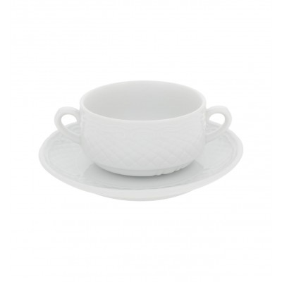 Escorial White - Consomme Cup & Saucer 26cl