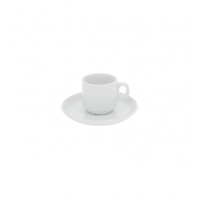 Estoril White - Coffee Moka Cup & Saucer 7cl