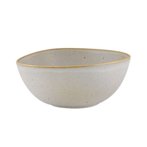 Vista Alegre Hotelware Salad Bowl 26 White Gold Stone Vista Alegre Hotelware
