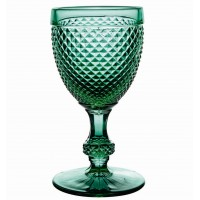 Bicos Verde - Set with 4 Red Wine Goblets Green