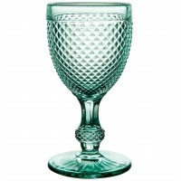 Bicos Verde - Set with 4 Red Wine Goblets Mint Green