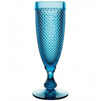 Bicos Azul - Set with 4 Flutes Blue