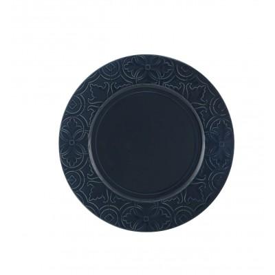 Rua Nova Stoneware - Dinner Plate 28 Dark Blue